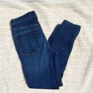 Free People Distressed High Rise Skinny Jeans